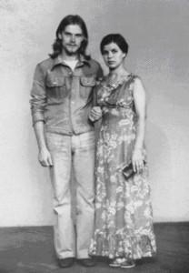 Andres Põder abikaasaga. Foto: erakogust.