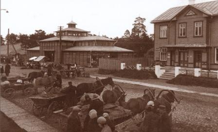 Nõmme turg enne II maailmasõda (foto: www.tallinn.ee)