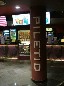 Cinamon kinokeskuses saab maksta ka kaardiga.