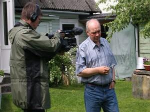 Režissöör Jaan Kolber ja peategelase pinginaaber ning sõber Joosep Tammo