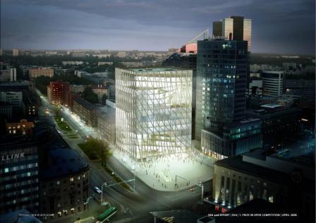 Kunstiakadeemia kavandatav hoone (avaldatud: www.artun.ee)
