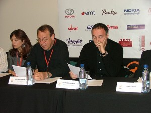 Filmiprodutsent Aleksander Rodniansky PÖFFi pressikonverentsil 4. detsembril.