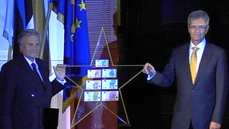 Trichet ja Lipstok eurotähega (foto: ERR)