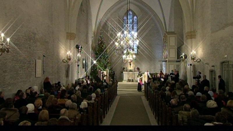 Presidendi jõulutervitus loeti ette Haapsalu Toomkirikus. (Foto: ERR)