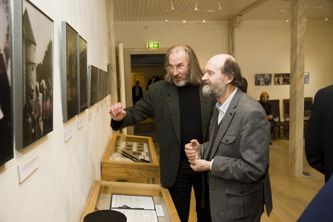 Arvo Pärt ja Tõnu Kaljuste (foto: www.rannarahvamuuseum.ee)
