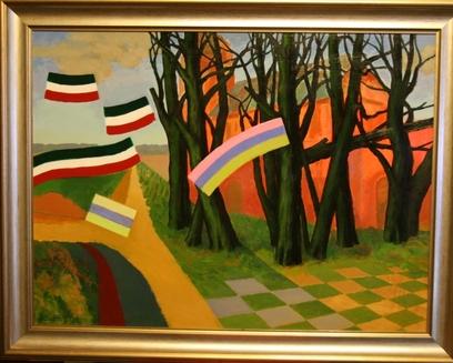 """Olev Subbi """"Kevadine pööripäev"""" 2009 Akrüül, õli, 60x80 cm (avaldatud oksjoni kodulehel)"""
