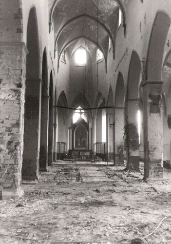 """C. E. Kirchhoffi foto Niguliste kirikust pärast pommitamist 1944. aasta märtsis. Foto: Viivi Baladi erakogu (avaldatud ajalehes """"Eesti Kirik"""")"""